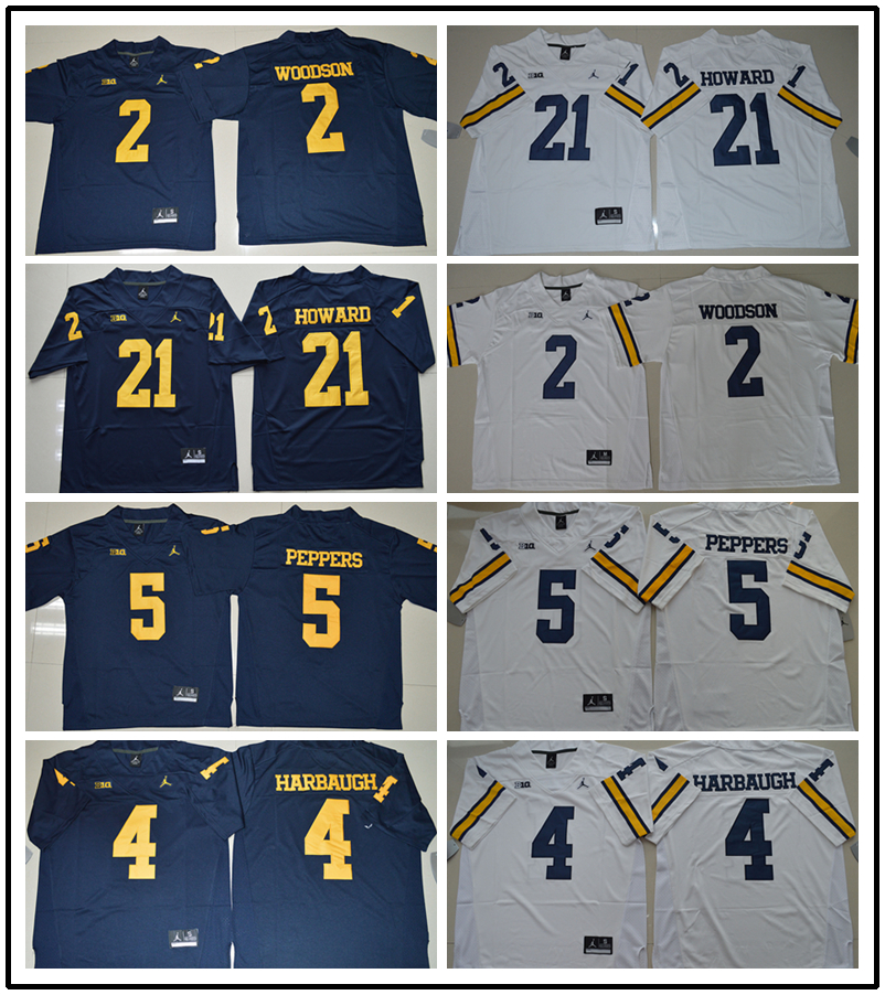Michigan Wolverines For Mens,stitched college Tom Brady Desmond Howard Charles Woodson Peppers Jim Harbaugh,camouflage(China (Mainland))