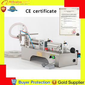 free shipping liquid filling machine, semi automatic pneumatic filler,water shampoo juice oil glycerinum lubricant piston filler(China (Mainland))