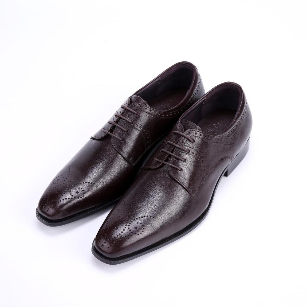 2015 Italian vintage fashion mens dress shoes genuine leather black round toe basic flats for man formal business wedding #944(China (Mainland))