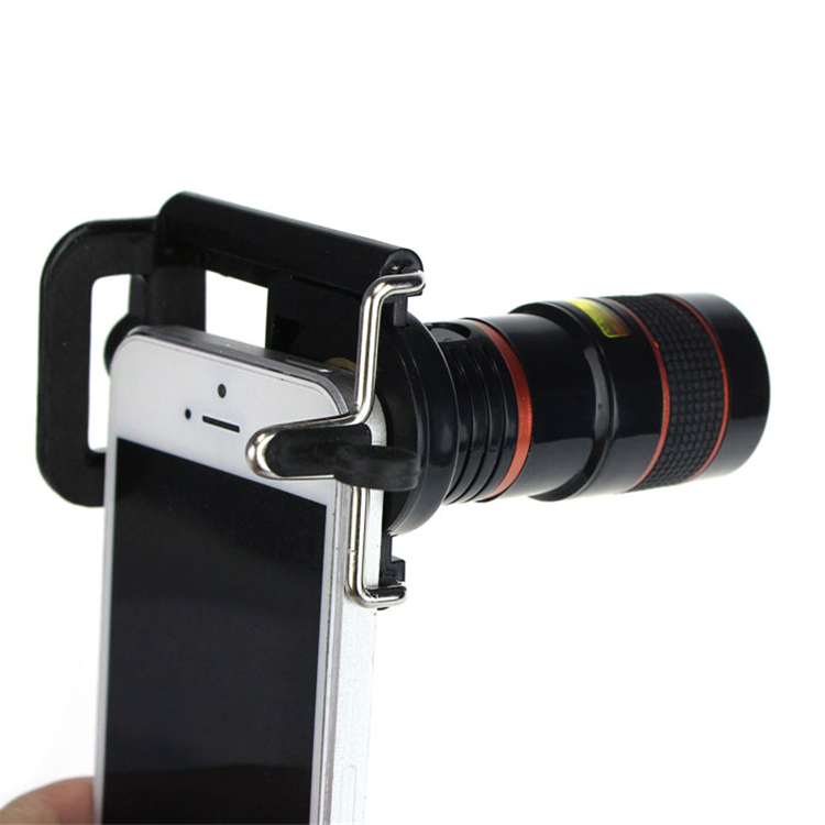 Free shipping Newest 8X Zoom Optical Telescope Camera Wide Angle Lens+Phone Holder For iPhone 4S 5 5S 6 6S Samsung Galaxy S HTC(China (Mainland))