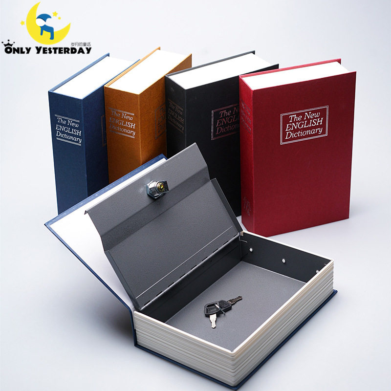 2016 Piggy Bank English Dictionary Book Safe Deposit Money Box Security Jewelry Vault Creative Storage Box(China (Mainland))