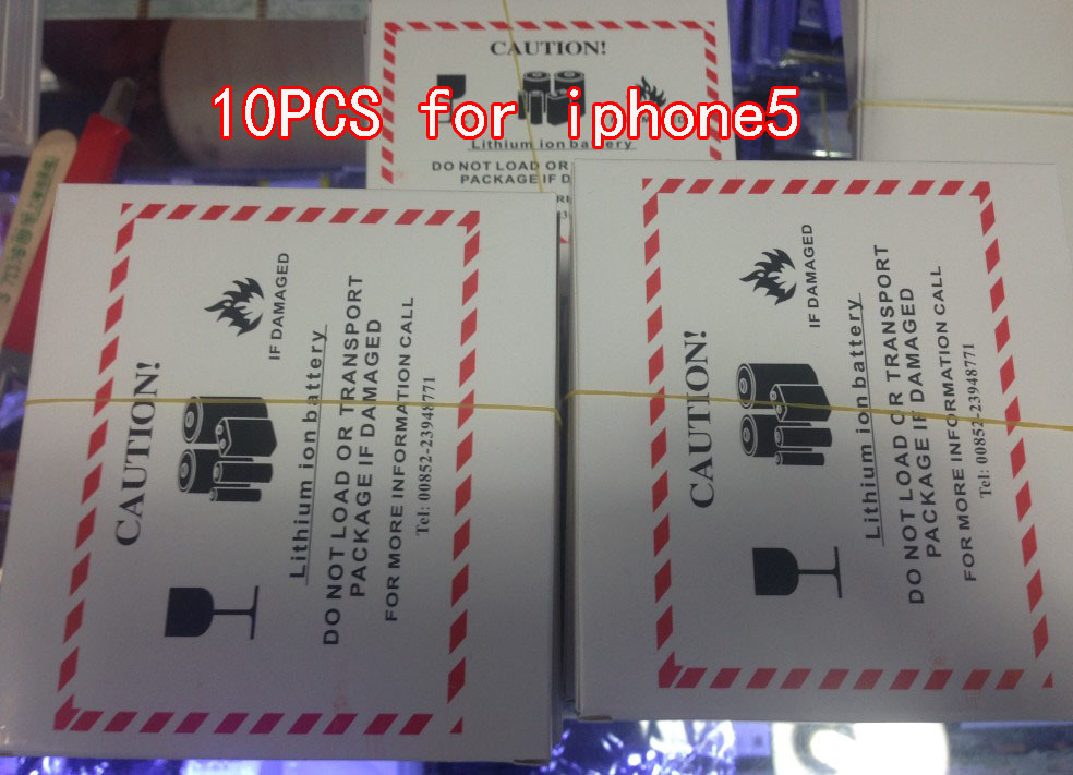 10pcs 1440mAh Cell Phone Battery Li-ion Battery Replacement Battery For Apple Iphone 5 Battery Free Shipping