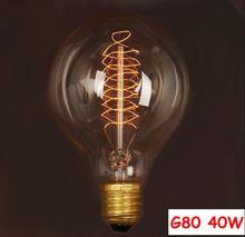 Incandescent Vintage Bulb E27 40W 220V Retro Edison Style Light Bulbs G80 Wholesale Price(China (Mainland))