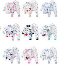 2015 new baby children underwear cotton sets of kids infant clothes gifts for boys and girls pajamas spring autumn and winter(China (Mainland))