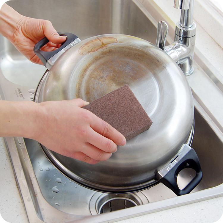 2pc/lot nano carborundum magic cleaning sponge pot stove emery Eraser Scourer brush cleaner scrub wash KItchen tools accessories(China (Mainland))