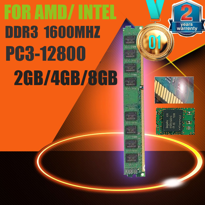 HOT SELLING ! Brand New Sealed DDR3 1600 / PC3 12800 2GB 4GB 8GB Desktop RAM Memory compatible with DDR 3 1333 1066 MHz<br><br>Aliexpress