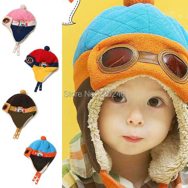 0185 Low PriceDream SkyHot sales Toddlers Cool Baby Boy Girl Kids Infant Winter Pilot Warm Cap Hat Beanie Drop Free Ship(China (Mainland))
