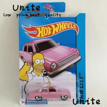 Free Shipping Hot Wheels The Simpsons Cars Metal Alloy Model For Colecter Wholesale Metal Cars For Car Lovers(China (Mainland))