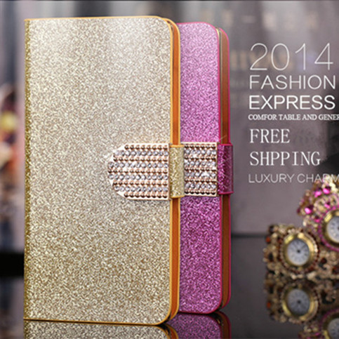 Deluxe Twinkle Diamond PU Wallet Leather Case For Blackberry Q5 Cover For Blackberry Q5 Phone Case Stand Card Holder(China (Mainland))