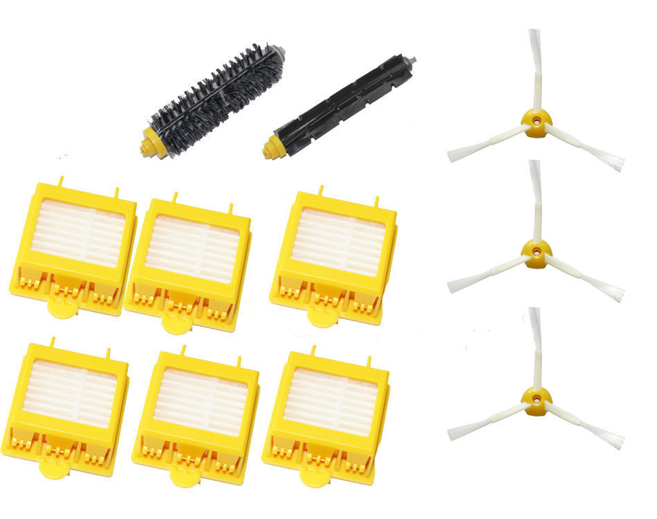 High Quality Bristle & Flexible Beater Brush & 6 Hepa Filter & armed Brush kit for iRobot Roomba 700 Series 770 780 790(China (Mainland))