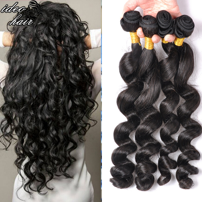 Unprocessed virgin hair free shipping, Virgin Peruvian hair loose wave,7A Grade,Queen hair extension. 4pcs/lot  can be dyed <br><br>Aliexpress
