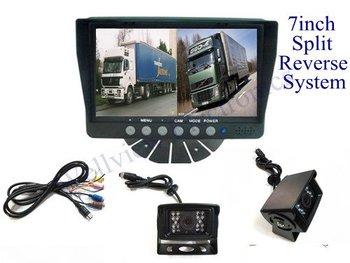 7inch wide screen ftf lcd split monitor Rear View  Bus Camera System,12V~24V DC
