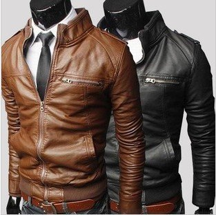 Foreign PU leather jacket men collar men's solid color version slim leather jacket top quality Chaqueta Hombre Cuero Motorcycle(China (Mainland))