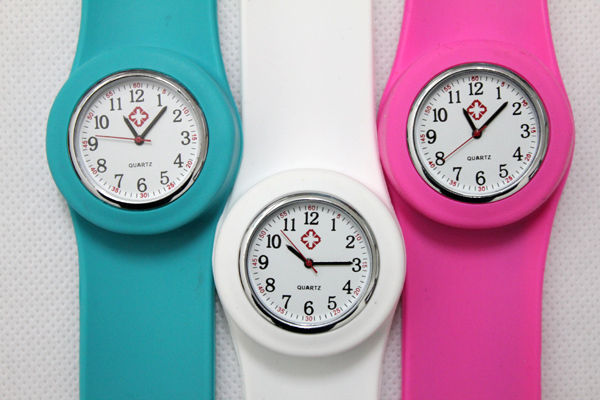 25pcs/lot free shipping high quality Wholesale price Silicone nurse slap watch doctor slap watch with opp bag packaging<br><br>Aliexpress