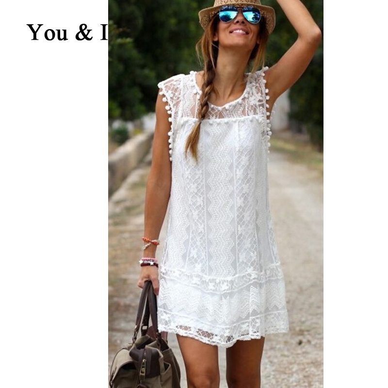 Summer Style 2015 Vetement Femme Boho White Embroidery Dresses Ropa Mujer Floral Retro Handmade Crochet Dress Women Beach Dress(China (Mainland))