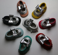 spring and summer new designs Mary jane flower baby dress shoes cow Leather Baby Moccasins silver