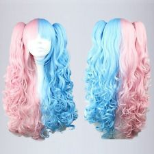 Vampire lolita Devil Mystery Long Light Blue Anime Fancy Wig Clip Ponytail Tail queen brazilian womens hair no lace Front Wigs<br><br>Aliexpress