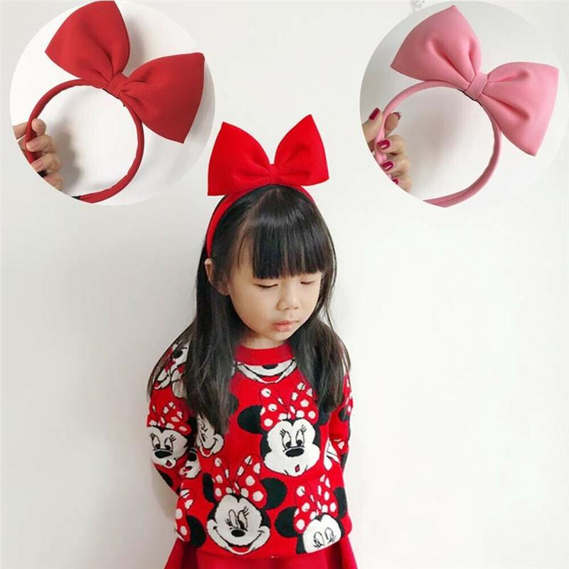 Детская одежда для девочек платье с большим бантом ribbot обручем волос Однотонные