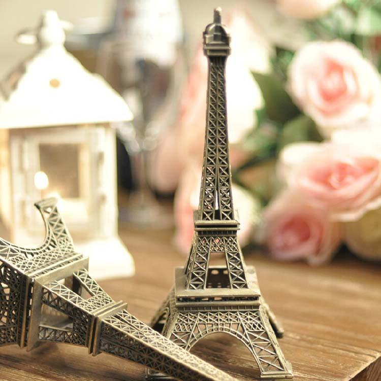 5pcs/lot Bronze Tone Paris Eiffel Tower 10CM Vintage Alloy Model Wedding Party Birthday Gift Home Decoration(China (Mainland))