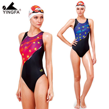 2014 NEW Yingfa Professional fast frying one piece triangle training swimsuit  chlorine resistant  women's swimwear bathing suit