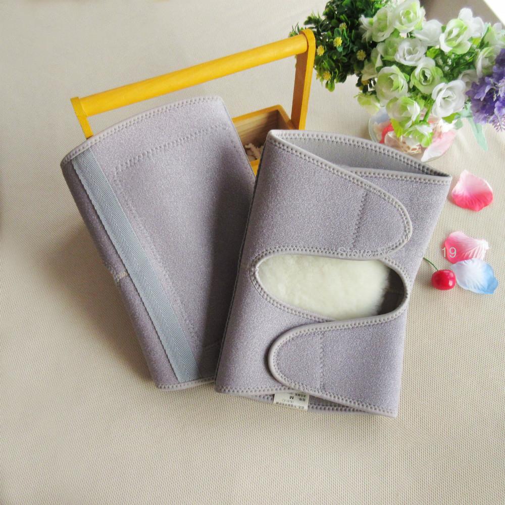 1 pair Free shipping autumn winter brand new grey lycra woolen knee pads velcro woolen warm kneecap N033(China (Mainland))