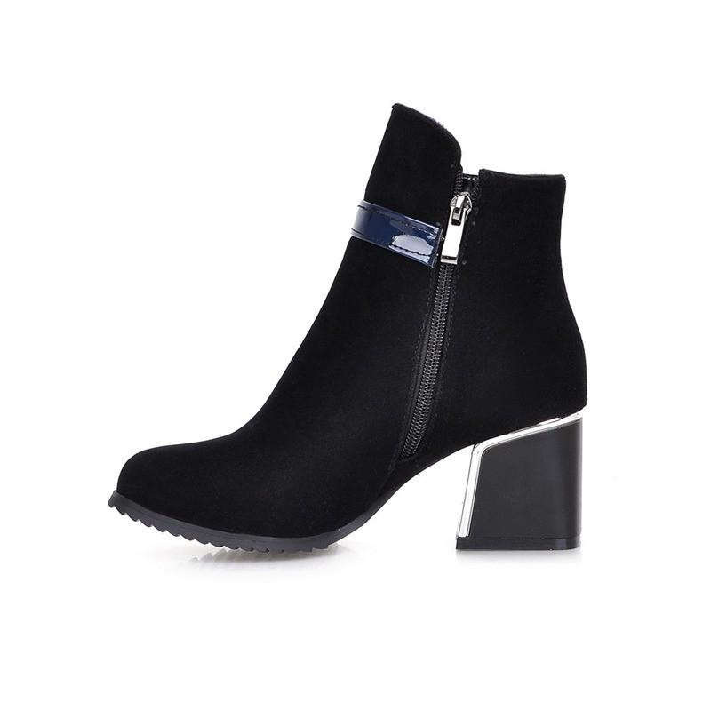 ซื้อ พลัสSize34-42 2016ใหม่เซ็กซี่ผู้หญิงบู๊ทส์สีดำส้นหนาแพลตฟอร์มปั๊มเลดี้รองเท้าขี่ฤดูหนาวรองเท้าข้อเท้าหญิงSBT2595