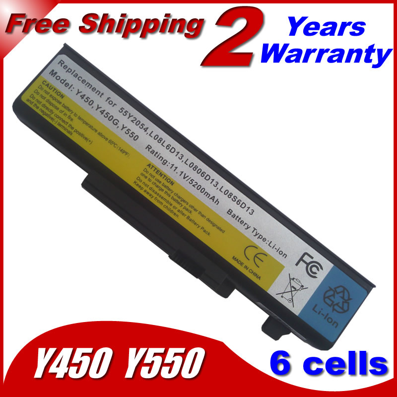 Laptop Battery For Lenovo IdeaPad Y450 Y450A Y450G Y550 Y550A Y550P 55Y2054 L08L6D13 L08O6D13 L08S6D13(China (Mainland))