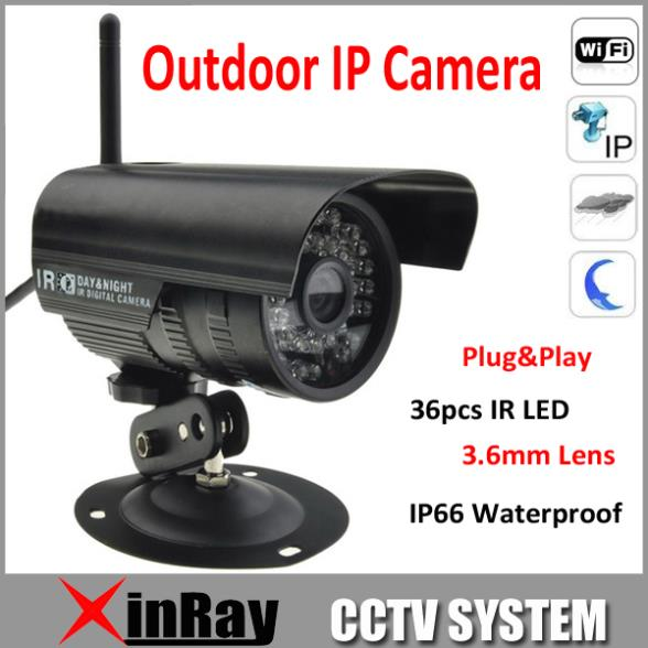 Гаджет  Free shipping,P2P Plug and Play Wireless IP Camera Slot Free Iphone Android App Software Outdoor Waterproof IP Camera AP003 None Безопасность и защита