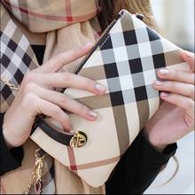 Hot Sale Luxury Desige Brand Long Women Wallet Vintage Clutch Bag Fashion font b Plaid b