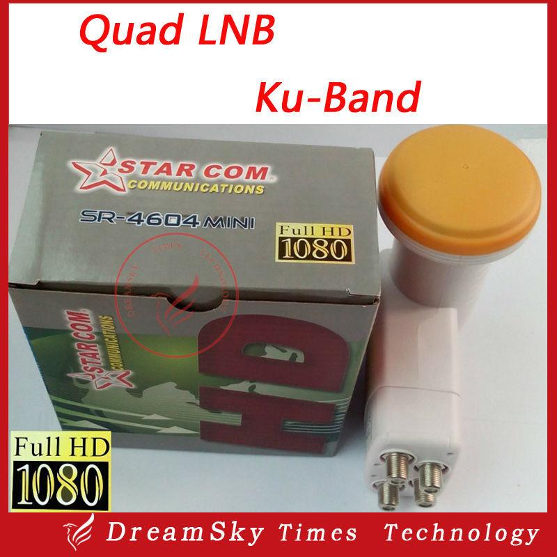 Universal Quad LNB SR-3604 MINI HD Digital Satellite 4 outputs 0.1db LNB LNBF,Full HD Digital KU Band 4-Output LNB LNBF(China (Mainland))