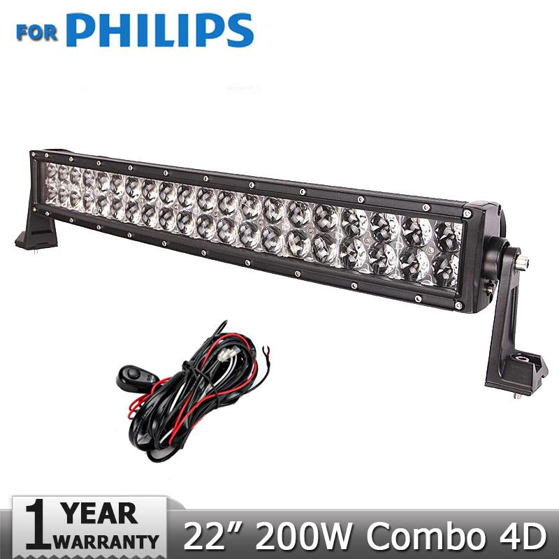 22 inch 200w curved led light bar for philips gd traders 22 inch 200w curved led light bar for philips offroad 4x4 led work lamp dc12v 24v aloadofball Image collections