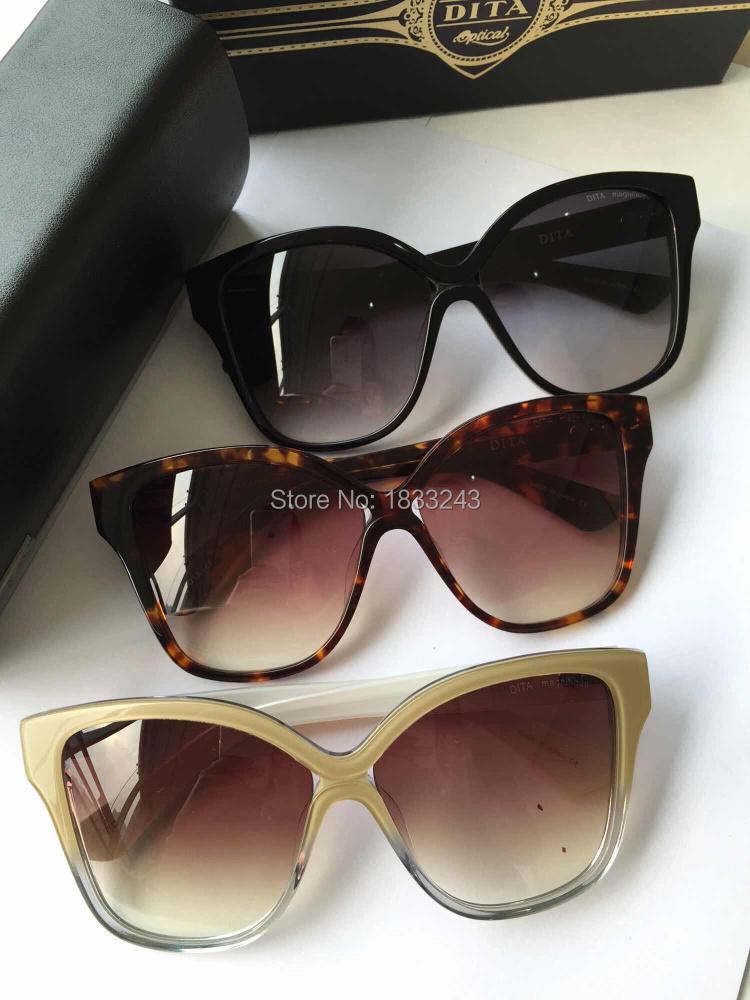 FREE SHIPPING Dita Magnifique Women Fashion Square Sunglasses Brand Designer Sunglasses with box summer Eyeglasses(China (Mainland))
