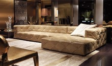 top graded italian genuine leather sofa sectional living room sofa home furniture big size with crystal buttons SF314(China (Mainland))