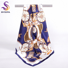 Brand Blue White Small Square Scarves Fashion Accessories Carriage Design Ladies 100% Silk Scarf For Spring Summer Autumn Winter(China (Mainland))