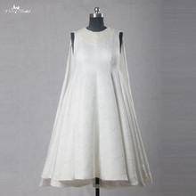 RSW1066 Yiaibridal Printed Pattern Satin Jewelry Neckline Sleeveless Short Wedding Dresses For Pregnant(China (Mainland))
