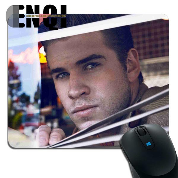 2015 Custom made liam hemsworth pictures close up picture Fashion Rectangular Mini Computer mouse pad(China (Mainland))