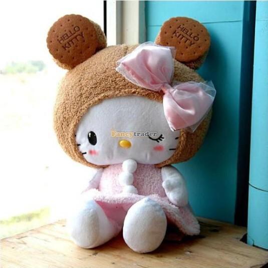 Fancytrader 35 inches(90cm) Giant Big Hello Kitty toy, Plush toy, Plush Stuffed Hello Kitty, Xmas Valentine gift FT90165(China (Mainland))