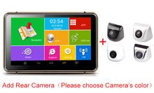 "Android GPS Navigator DVR 7"" Car GPS Navigation MTK Quad Core 512M 8G Bluetooth AV-in Wifi 170 Degree Camera FM Transmitter(China (Mainland))"