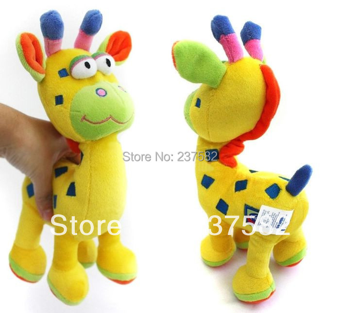 New baby toy Playgro Super Cute Giraffe educational toys for babies stuffed plush chocalhos e mobiles musical toy(China (Mainland))