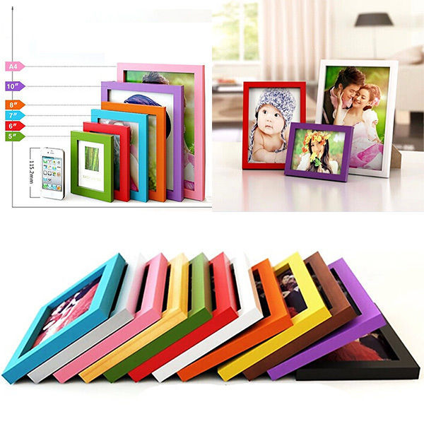 """A4/5""""/6""""/7""""/8"""" Multi-size Room Decor Wooden Picture Photo Wall Frame(China (Mainland))"""