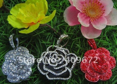 Genuine 2GB/4GB/8GB/16GB/32GB usb stick usb flash drive jewelry flowers rose metal Free shipping wholesale 10pcs/lot(China (Mainland))