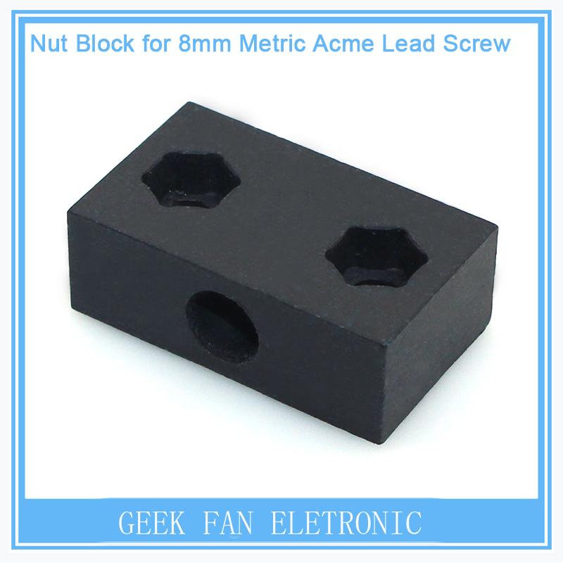 Preventa CNC Piezas De Teflón Tuerca Bloque para T8 8mm Métricas Acme Tornillo Para Openbuilds c-viga de Impresora 3D Hardwares Piezas 3D0274(China (Mainland))