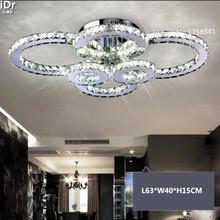 L63*W40*H15CM living room crystal Ceiling Lights led lamp bedroom modern minimalist restaurant lamps(China (Mainland))