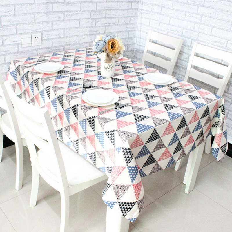 Round Cotton Polyester Table Cloth Geometric Print Style Colorful Tablecloth Mantele Table Cover Tea Coffee Nappe Toalha De Mesa(China (Mainland))