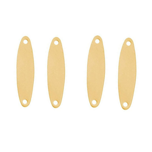 24x6mm Solid Brass Blank Stamping Tapered Oval Connector Links Tag(China (Mainland))