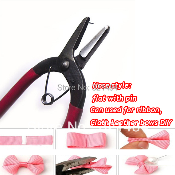 Hot Sale 20pcs Jewelry making tools flat nose with pin pliers for Ribbon Cloth Leather Bows DIY<br><br>Aliexpress