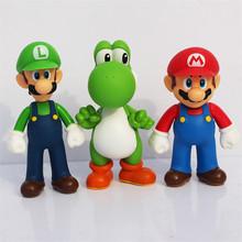 Buy Super Mario toys Bros Luigi Mario action figure collection model PVC toys 3pcs/set 12cm for $9.71 in AliExpress store