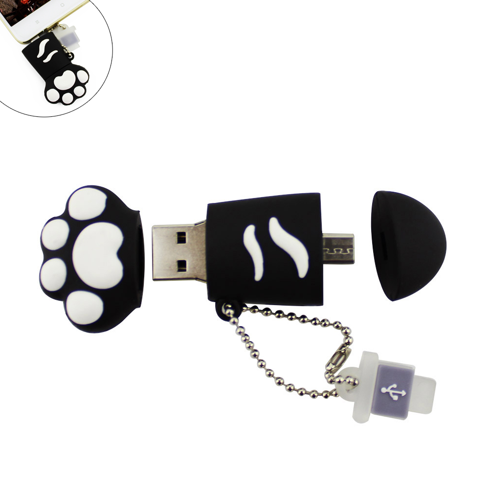 Hello Kitty Paw OTG USB Flash Pen Drive U Disk Memory Stick 8GB 16GB 32GB 64GB Pendrive Thumb Stick for Smartphone or Computer(China (Mainland))