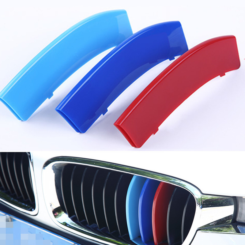 1Set New 3D Car Styling Front Grill Trim Strips Sticker For 2013-2016 BMW 3 Series 11 Grille Trim Strips(China (Mainland))