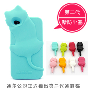 Free shipping 2014 hot selling cute case for apple iphone 4 4s mobile phone soft case for iphone4s cartoon silicon case(China (Mainland))